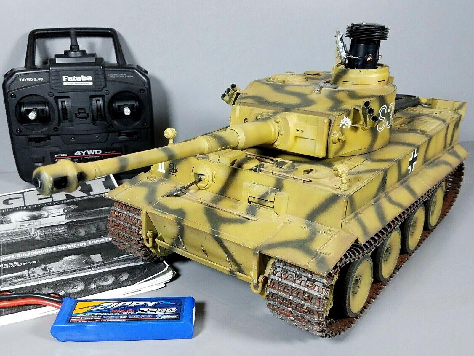 Tamiya 1 16 Tiger 1 Tank  Full Option DMD T-03 MF-01 Futaba Battery Battle System  Miglior prezzo