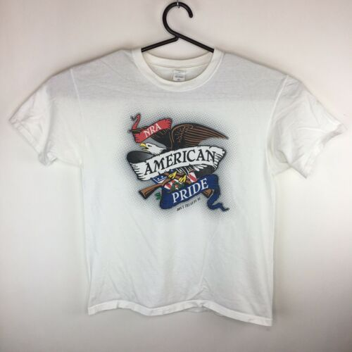VTG American Pride NRA T-Shirt USA Bald Eagle Flag