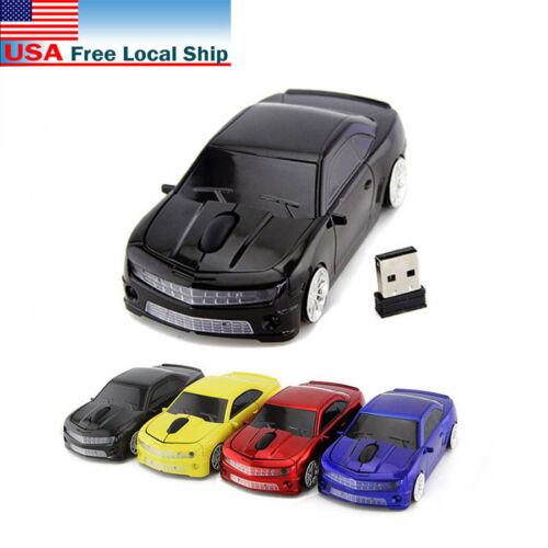 USB US Cordless Chevrolet car 2.4Ghz Wireless mouse optical Laptop PC Game Mice