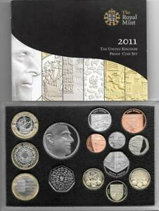 2011-Proof-Coin-Set-With-Rare-Edinburgh-1-Cased-With-COA-14