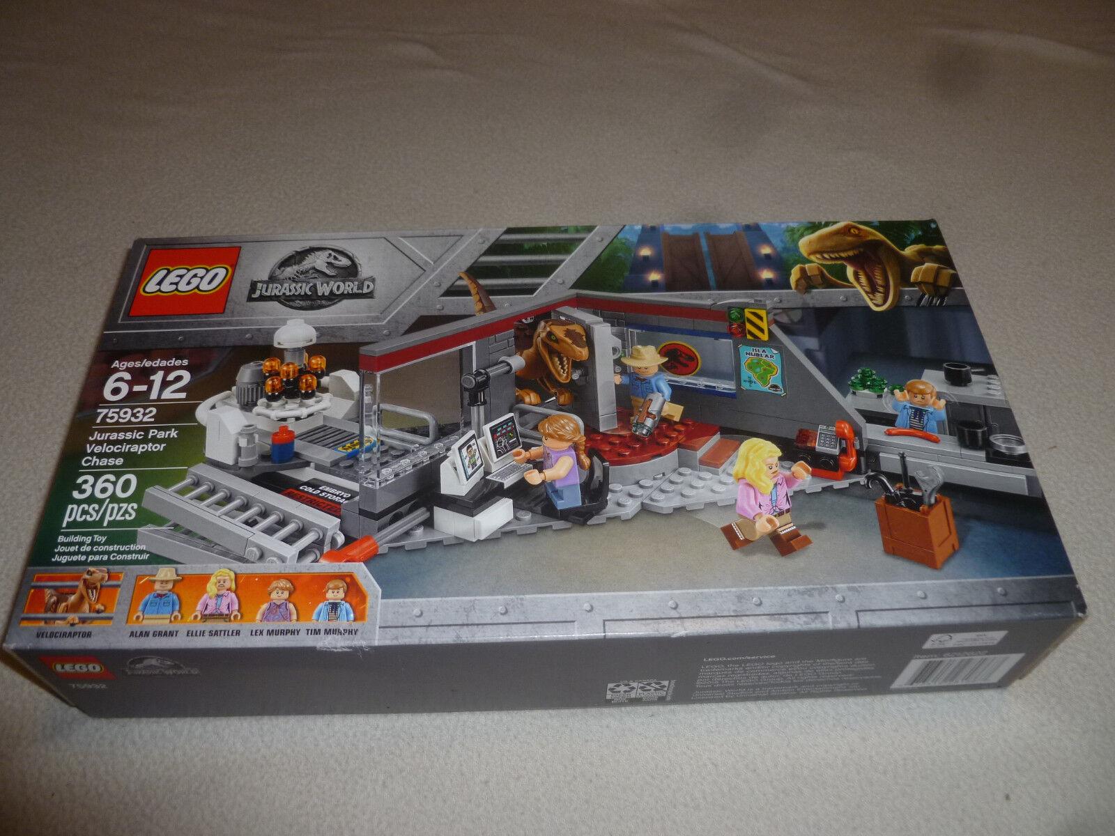 NEW NEW NEW IN BOX LEGO JURASSIC WORLD SET 75932 PARK VELOCIRAPTOR CHASE NIB ALAN GRANT 1ec67d