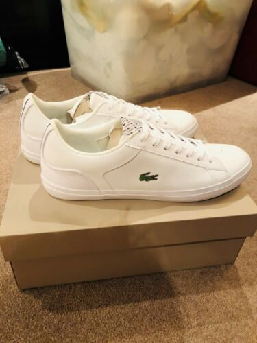 LACOSTE MENS LEROND 318 2 LEATHER TRAINERS 7-36cam0049001 RARE JD EXCLUSIVE