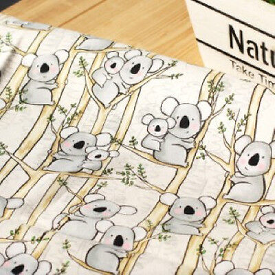 KOALA 1Yard Quilting Sewing Crafts Home deco Upholstery Fabric 100% Cotton