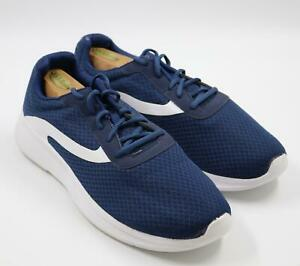 navy athletic shoes