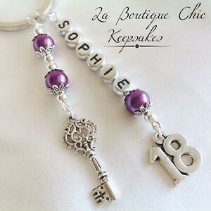 Image Is Loading Personalised 18th Birthday Gift Keyring Key To The
