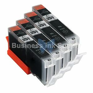 4-BLACK-CLI-251XL-Ink-Tank-for-Canon-Printer-Pixma-MX722-MX922-MG5420-CLI-251BK