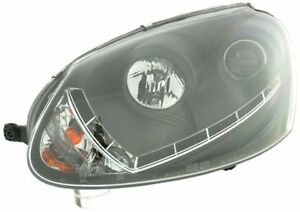 Eclairage-Diurne-Optique-Phares-Set-VW-Golf-5-Type-1K-Annee-Fab-03-08-Noir