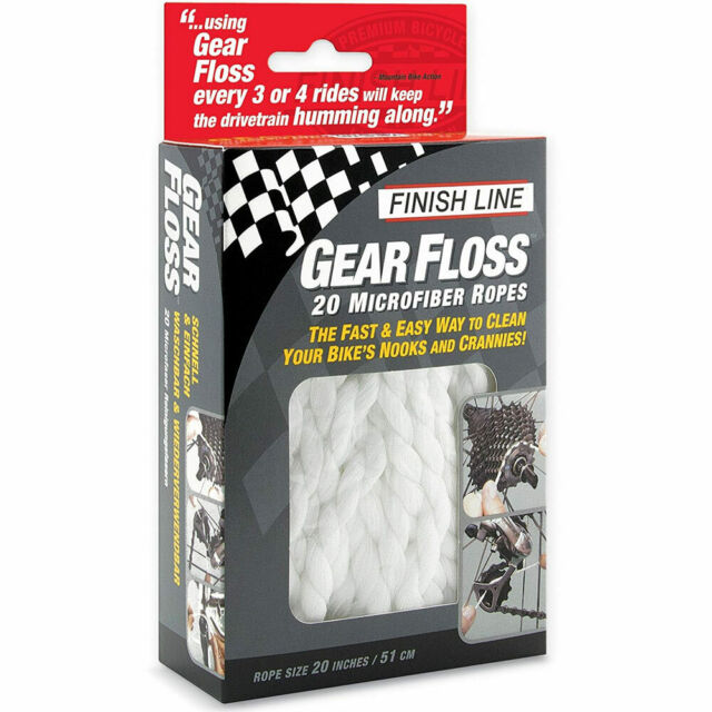Finish Line Gear Floss Microfiber Cleaning Rope X4 for sale online