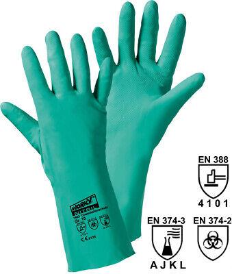 12 X Chemikalienhandschuhe 1463, Arbeitshandschuhe, Nitril Handschuhe Grün *neu*