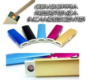 ACCENDINO USB RICARICABILE ELETTRONICO ELETTRICO SENZA FIAMMA ANTIVENTO PLASMA
