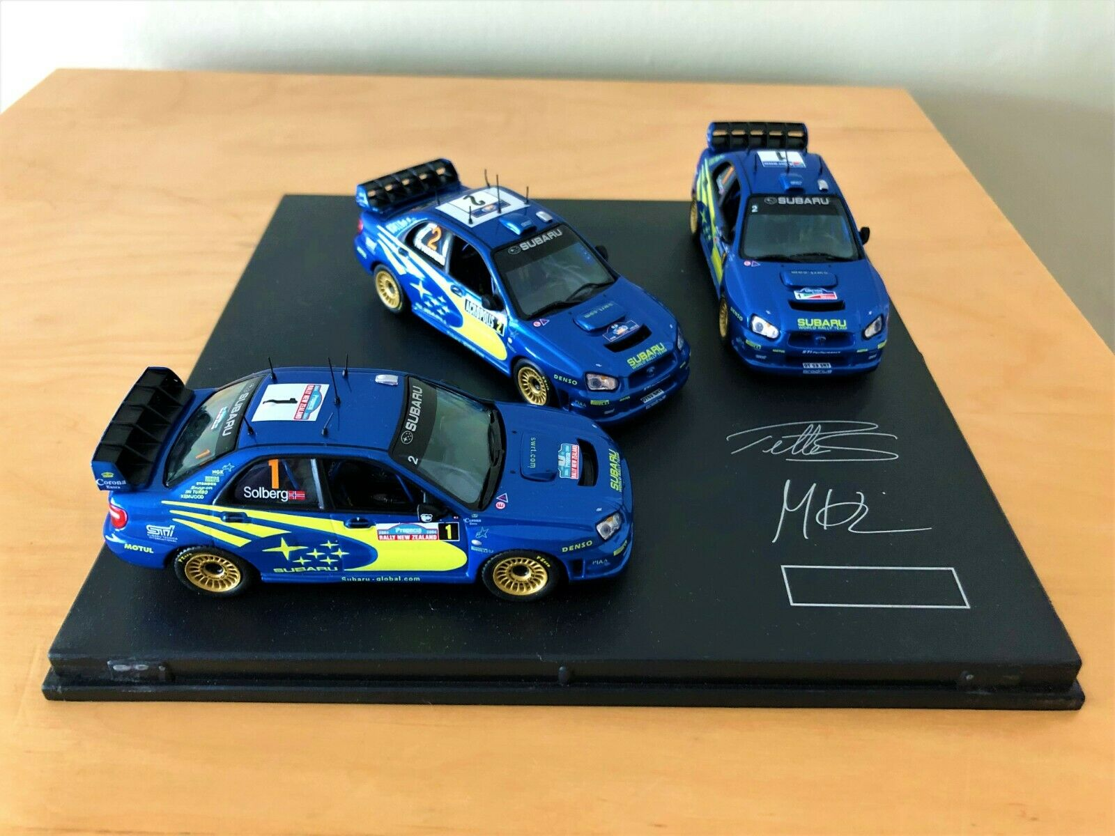 Collectable & Rare Diecast Subaru Impreza WRC 2003 Set of 3 Solberg & Hirvonen
