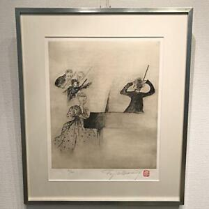 FUJIKO-HEMMING-CHOPIN-PIANO-CONSERT-ART-PRINT-RARE-JAPANESE-COLLECTIBLE-F-S