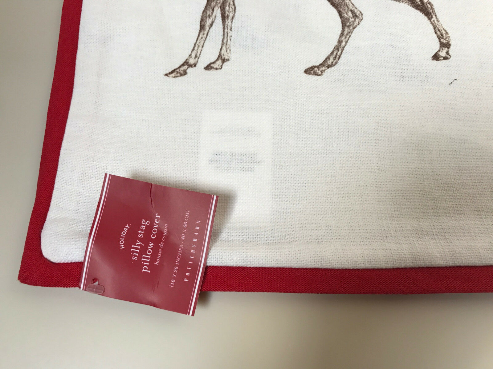 Pottery Barn Silly Stag Lumbar Pillow Cover 16 x 26