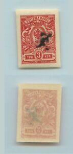 United Armenia 1919 Sc 92 Mint Imperf D2860 Relieving Rheumatism And Cold Stamps Asia