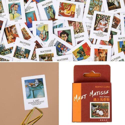 Berühmte Gemälde Briefmarken Boxed Aufkleber DIY Scrapbooking M5Z8
