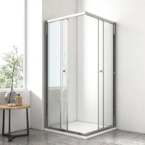 Duschabtrennung Duschtür Schiebetür Duschkabine 120x80 120x90 Duschwand ESG Glas