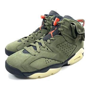 2019 Hommes 7 Nike Air Jordan 6 X Travis Scott Vert Olive CN1084 200