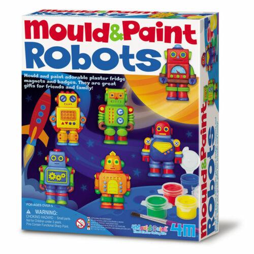 Molde de 4M y pintura Robots-crear Imanes para refrigerador o insignias