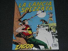 """ZAGOR ZENITH N.57 - LA LA LANCIA SPEZZATA - ANASTATICA MERCURY - NUOVO """"N"""""""