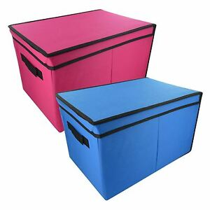 HOME-BEDROOM-STORAGE-TOTE-BOX-WITH-LID-TOYS-BOOKS-CLOTHES-LAUNDRY-KEEP-ROOM-TIDY