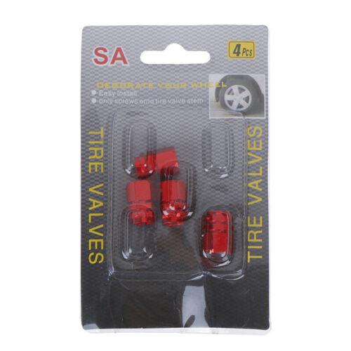 4PCS Mini Tire Wheel Rims Stem Air Valve Caps Tyre Cover Car Truck BiFB