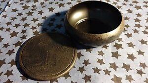 3-034-Metal-Incense-Burner-amp-Wooden-Coaster-For-Charcoal-Burning-Small-Smudge-Pot