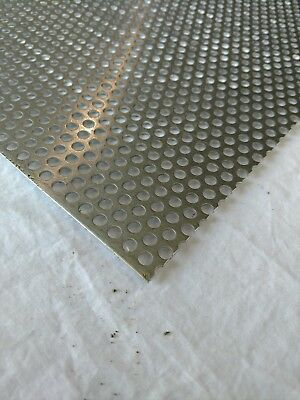 """Perforated Metal Aluminum Sheet .125/"""" x 12/"""" x 36/"""" 3//8/"""" hole 11//16/"""" Stagger"""