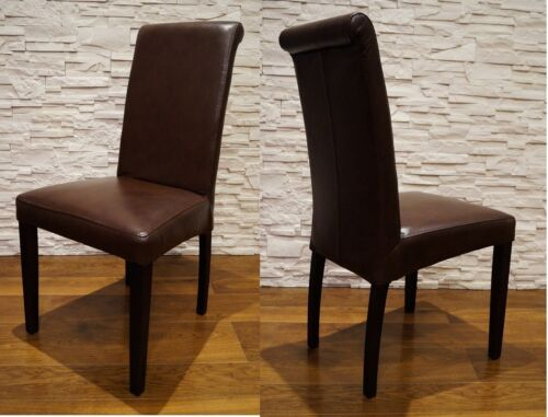 Dunkelbraun Echtleder Stuhl 100% Echt Leder stühle Lederstühle Esszimmer Stuhl