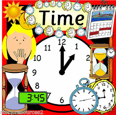 TIME ****** Maths Teaching Resources  KS1 and KS2 Teacher Display Games Resource