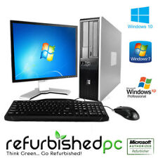 Fast HP Desktop Computer PC, Core 2 Duo 2.8-3.3 GHz, Win 10/7/XP Pro, LCD,KB,MS