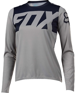 Fox Racing Womens Ripley Long Sleeve L  S Jersey Grey  more discount