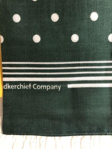 Set Of 3 Enormous Handkerchief Gardener's Spotted Cotton Hankies