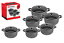 5pc-Non-Stick-Die-Cast-Oven-Hob-Casserole-Dish-Stockpot-Cooking-Pan-Set-Black thumbnail 1