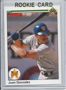 Details About 1990 Upper Deck Juan Gonzalez Rookie Card Rc 72 Mint