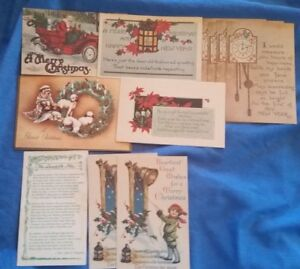 Christmas-Card-Postcard-Lot-Christmas-Happy-New-Year-Scripture-Holiday-Vintage