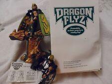 1996 DRAGON FLYZ GOLDEN RAY ZNETH, GOLD WING RIPTOR & '95 BLACK ZNETH FLYING TOY