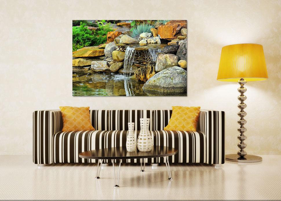 3D Stein, fließendes Wasser 1 Fototapeten Wandbild BildTapete Familie AJSTORE DE