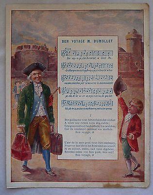 """Ancienne Illustration Contine """"bon Voyage M. Dumollet"""" Para Aclarar La Molestia Y Calmar La Sed"""