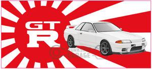 New-Collectable-Rising-Sun-Nissan-Skyline-GTR-R32-white