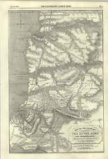 1855 Map Illustrating Allies Advance Between River Alma And Balaklava