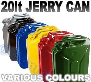 20lt Metall Jerry Kann Grün Gelb Rot Blau Schwarz Silber
