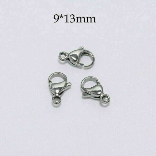 30Pcs Stainless Steel Lobster Claw Clasp Hooks Bracelet Necklace Jewelry Making#