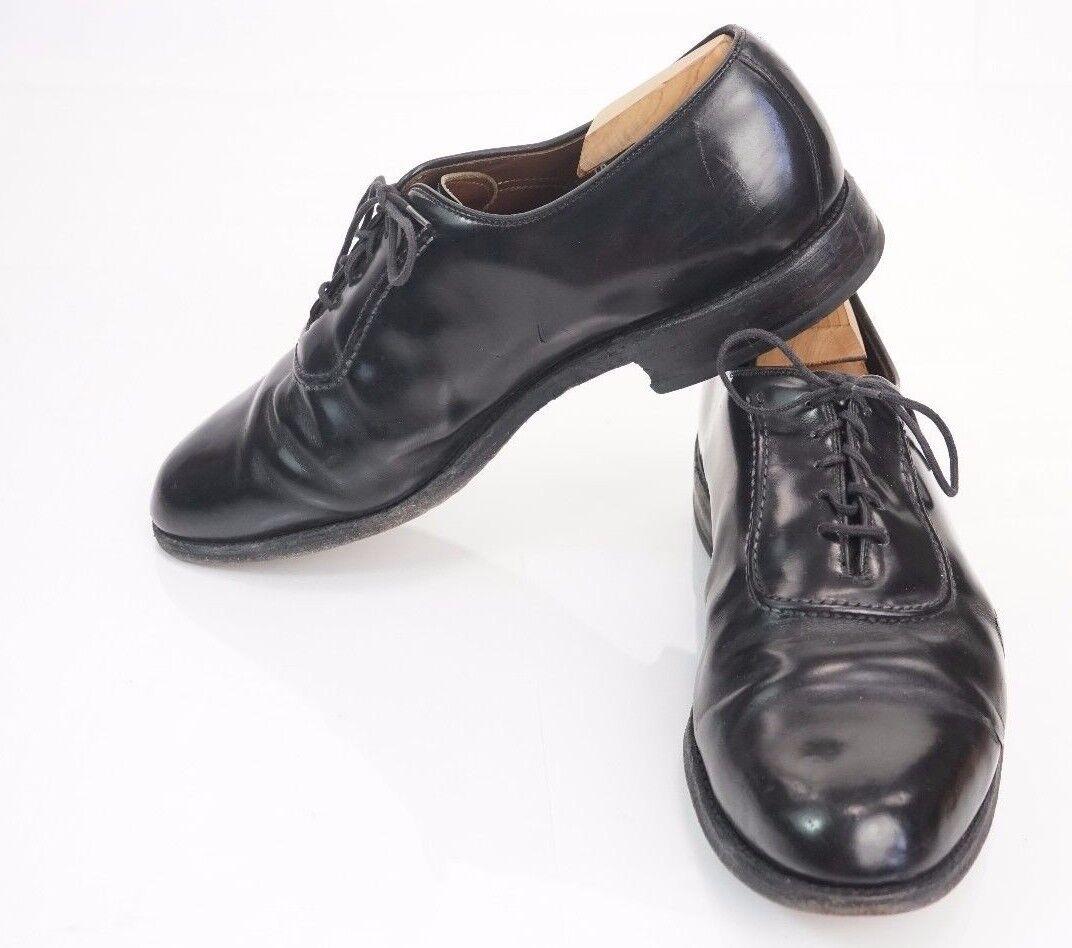 Allen Edmonds Black Belgium Men's Oxford Dress shoes 10 D High Gloss USA