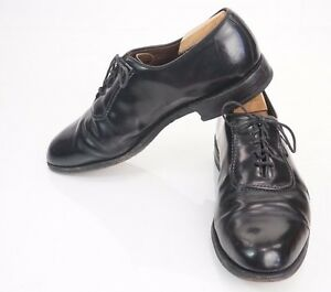Allen-Edmonds-Black-Belgium-Men-039-s-Oxford-Dress-Shoes-10-D-High-Gloss-USA