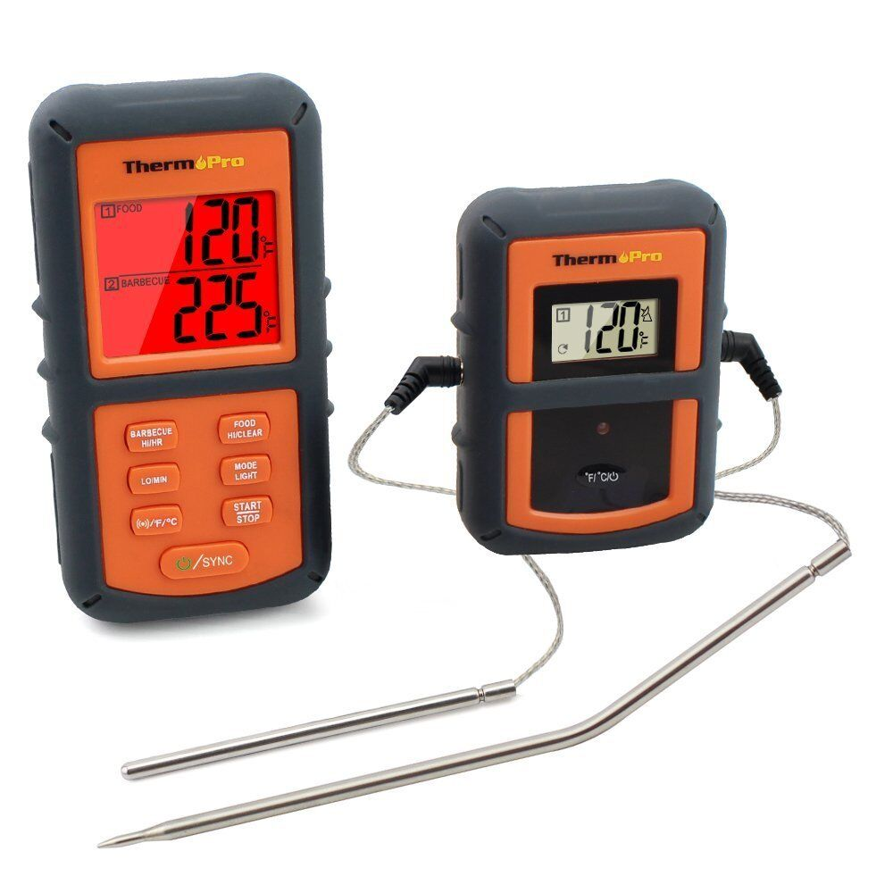 A ThermoPro TP-08 Digital Wireless Remote Kitchen Meat Cooking Thermometer Dual