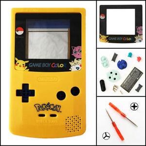 GBC-Nintendo-Game-Boy-Color-Housing-Shell-LIMITED-EDITION-Pokemon-Pikachu-USA