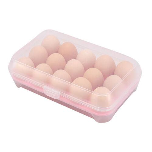 Eg /_ 15 Eier Halter Lebensmittel Aufbewahrung Behälter Plastik Kühlschrank Ei F