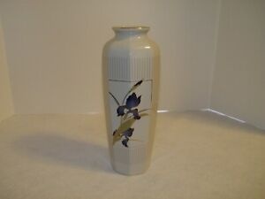 "Otagiri 11"" Vase "" Grand Iris"" made in Japan"