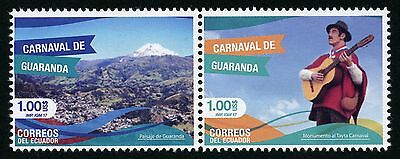 Glorious Ecuador 2017 Karneval Von Guaranda Carnival Carnaval Berg Mountain Musik Mnh Diversified Latest Designs Topical Stamps