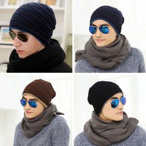 Image is loading Unisex-Knit-Winter-Beanie-Hat-Baggy-Ski-adjustable- 27e85f2c5ac